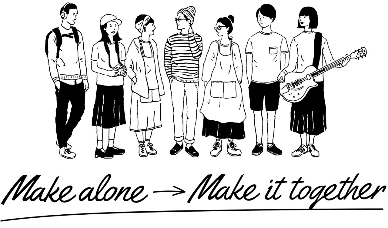 Make alone → Make it together